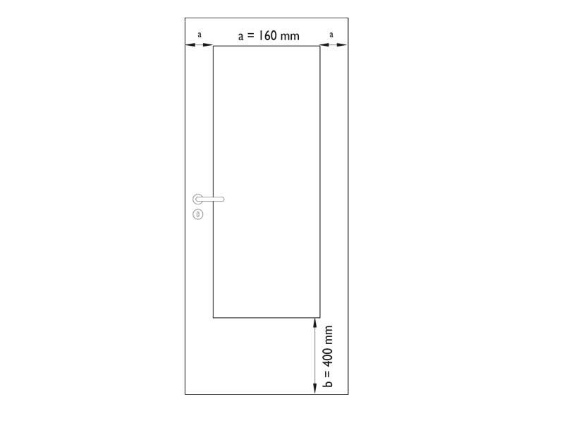 G dveře - bílý lak