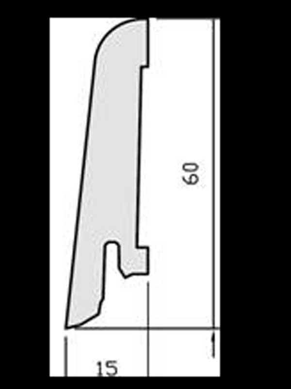 Wicanders soklová lišta  60 x 15 mm