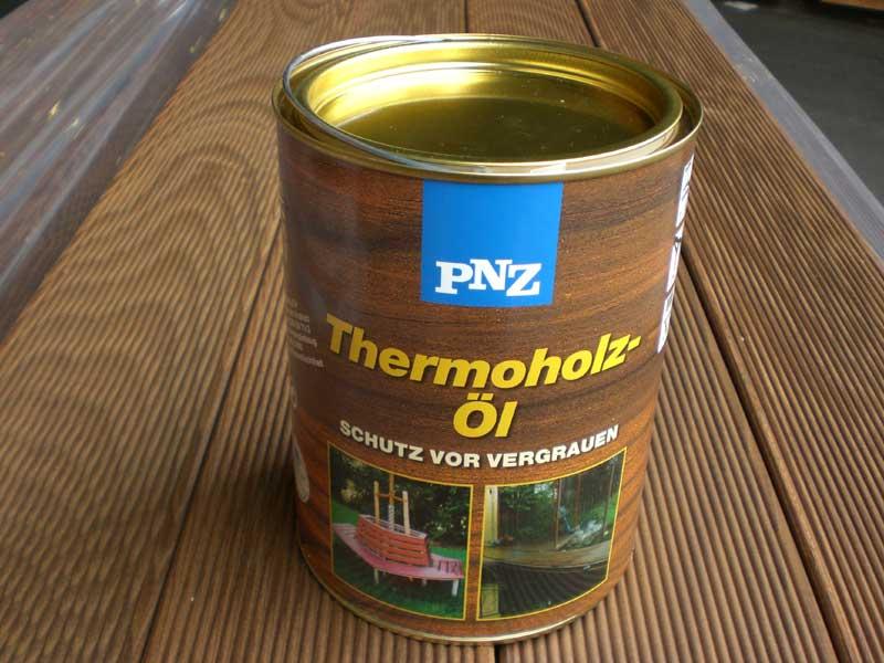PNZ Thermoholz-Öl/2,5l/olej na tepelně ošetř.dřevo