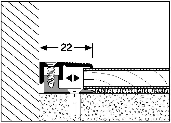 ukončovací profil 487 A (7 - 15 mm)