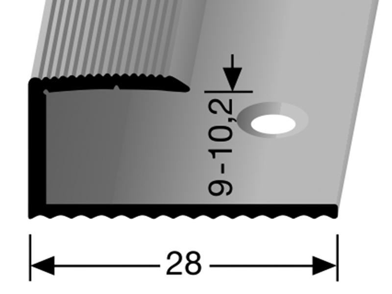 okrajový profil  212 (9 - 10,2 mm)