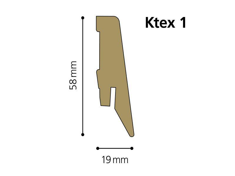 Krono soklová lišta Ktex1  19 x 58 mm