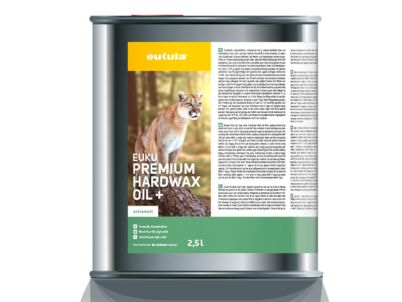 euku Premium harwax olej+ 2,5 ltr.