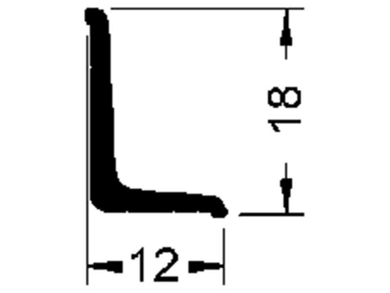 stěnová ukončovací lišta 8550 SK (18 x 12 mm)