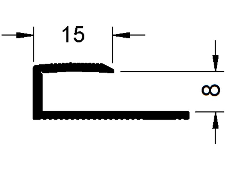 okrajový profil Sontex 8608 (6,5 - 8,5 mm)