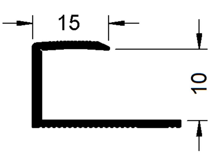 okrajový profil Sontex 8610 (8,5 - 10 mm)