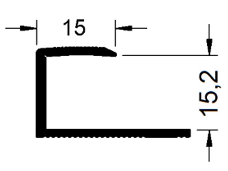 okrajový profil Sontex 8615 (13 - 15,2 mm)