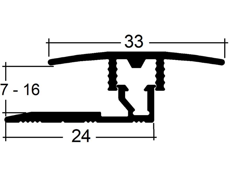 přechodový profil Sonclick 716 (7 - 16 mm) Clip