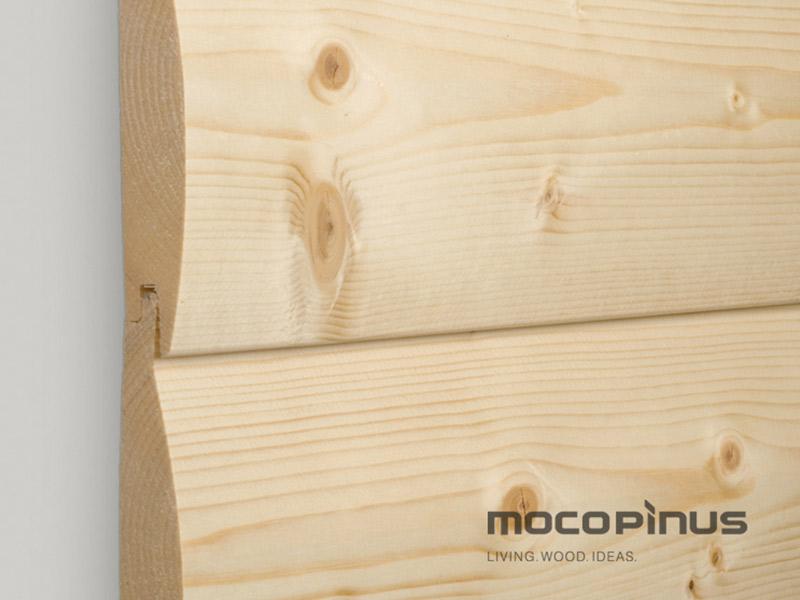 sev. smrk  profil Rundblockwand 24,5 x 144 mm